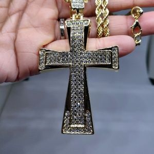 Other - Embossed CZ Stones Cross Hip Hop Bling Jewelry